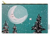 Starry Night Crescent Moon  Carry-all Pouch