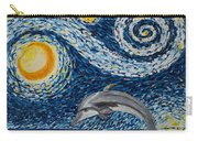 Starry Night Dolphin Carry-all Pouch