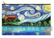 Starry Night Over The Lake Carry-all Pouch