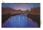 Starry Nights In Dublin Ha' Penny Bridge Carry-all Pouch by John  Nolan