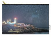 Starry Sky Of The Nubble Light In York Me Cape Neddick Carry-all Pouch