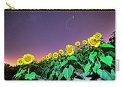 Starry Sky Over Colby Farm Sunflowers Newbury Ma Carry-all Pouch