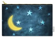Stars And Moon Drawing With Chalk Carry-all Pouch
