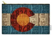 State Flag Of Colorado Recycled License Plate Art Carry-all Pouch