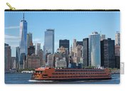 Staten Islan Ferry With Nyc Skyline Carry-all Pouch