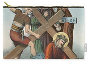 Station Ix Jesus Falls Under The Cross The Third Time Carry-all Pouch