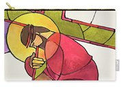 Stations Of The Cross - 03 Jesus Falls The First Time - Mmjff Carry-all Pouch