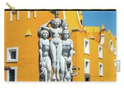 Statue And Yellow Theater Carry-all Pouch