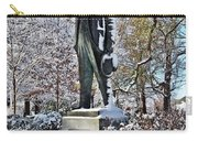 Statue In The Snow Carry-all Pouch