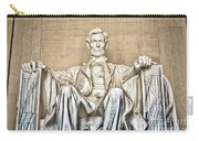 Statue Of Abraham Lincoln - Lincoln Memorial #3 Carry-all Pouch