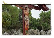 Statue Of Christ On Cross At Medjugorje Pilgrim Site Bosnia Herzegovina Carry-all Pouch