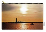 Statue Of Liberty At Sunset Carry-all Pouch