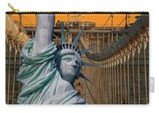Statue Of Liberty - Brooklyn Bridge Carry-all Pouch