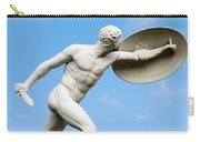 Statue Of Nude Man With Shield And Dagger Carry-all Pouch