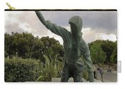Statue Of Woman Crawling On Marble Street Carry-all Pouch