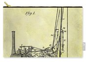 Steam Powered Oil Well Patent Carry-all Pouch