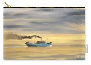 Steamship Freighter Heading Towards The Ocean Carry-all Pouch