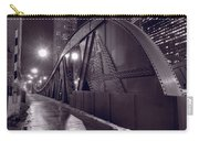 Steel Bridge Chicago Black And White Carry-all Pouch