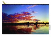 Steel Bridge Sunset Silhouette Carry-all Pouch