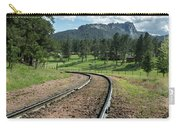 Steel Tracks In The Black Hills Carry-all Pouch