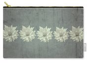 Steely Gray Rustic Flower Row Carry-all Pouch