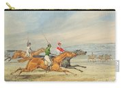 Steeplechasing Carry-all Pouch by Henry Thomas Alken