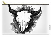 Steer Skull Tee Carry-all Pouch
