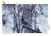 Steller's Jay In Snowfall Carry-all Pouch