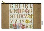 Stencil Alphabet Fun Carry-all Pouch