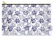 Stencilled Floral Carry-all Pouch by Jocelyn Friis