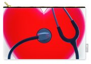 Stethoscope And Plastic Heart Carry-all Pouch