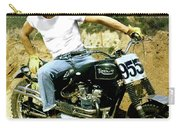 Steve Mcqueen, Triumph Motorcycle, On Any Sunday Carry-all Pouch