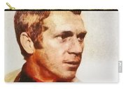 Steve Mcqueen, Vintage Hollywood Actor Carry-all Pouch