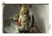 Stil Life With Birds And Hunting Gear In A Niche  Carry-all Pouch