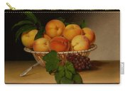 Still Life - Basket Of Peaches Carry-all Pouch