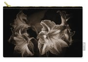 Still. Life. Colorless. Flowers. Carry-all Pouch