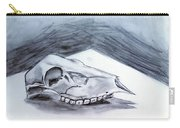 Still Life Drawing Cow Skull 02 Carry-all Pouch