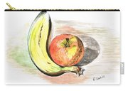Still Life Of Apple And Banana  Carry-all Pouch