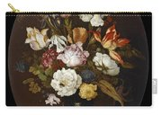 Still Life Of Flowers In A Glass Vase Carry-all Pouch