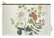 Still Life Of Flowers, Machtelt Moninckx, C. 1600 - C. 1687 Carry-all Pouch