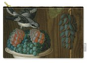 Still Life Of Grapes With A Gray Shrike Carry-all Pouch