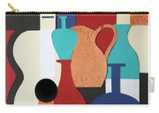 Still Life Paper Collage Of Wine Glasses Bottles And Musical Instruments Carry-all Pouch