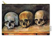 Still Life, Three Skulls Carry-all Pouch