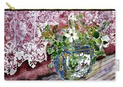 Still Life Vase And Lace Watercolor Painting Carry-all Pouch