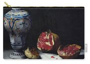 Still Life With A Pomegranate Carry-all Pouch by Auguste Theodule Ribot