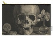 Still Life With A Skull And A Vase Of Roses Carry-all Pouch