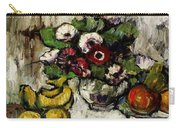 Still Life With Anemones And Fruit Carry-all Pouch