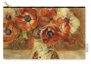 Still Life With Anemones  Carry-all Pouch by Pierre Auguste Renoir