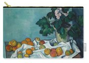 Still Life With Apples And A Pot Of Primroses, 1890 Carry-all Pouch