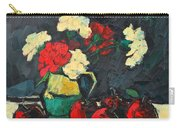 Still Life With Apples And Carnations Carry-all Pouch by Ana Maria Edulescu